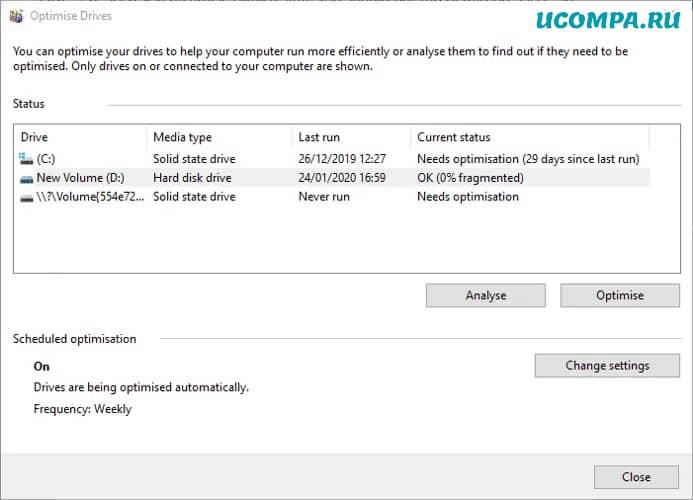 Проверка работоспособности жесткого диска Оптимизация дефрагментации Windows